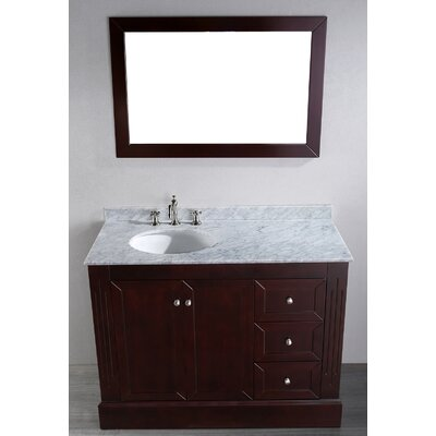 Rutland 45 Single Bathroom Vanity Set with Mirror
