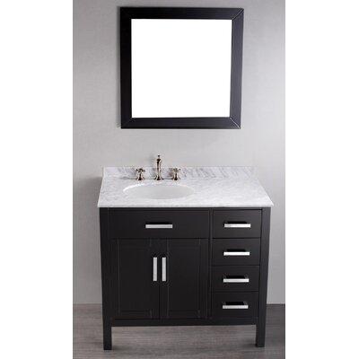 Rutland 36 Single Bathroom Vanity Set with Mirror