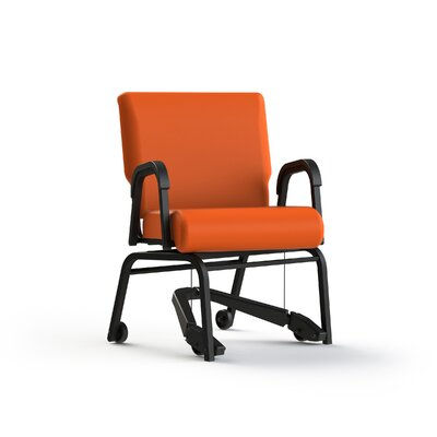 Mobility Assist Upholstered Dining Chair Color: Tangerine