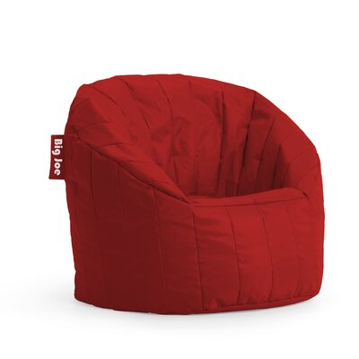 Big Joe Bean Bag Chair Upholstery: Red