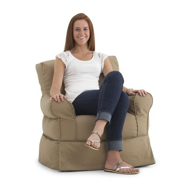 Big Joe Babette Bean Bag Chair Upholstery: Tan