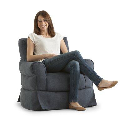 Big Joe Bean Bag Chair Upholstery: Blue