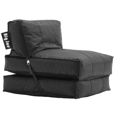 Big Joe Bean Bag Lounger Upholstery: Stretch Limo Black