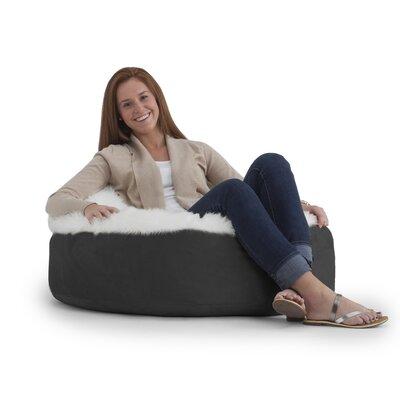Big Joe Bean Bag Chair Upholstery: Black/Ivory