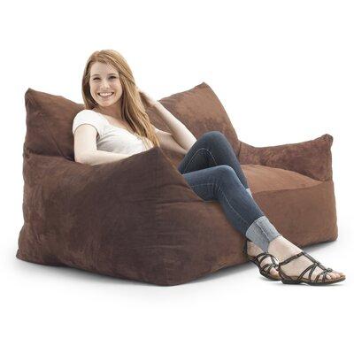 Big Joe Imperial Bean Bag Sofa Upholstery: Chocolate