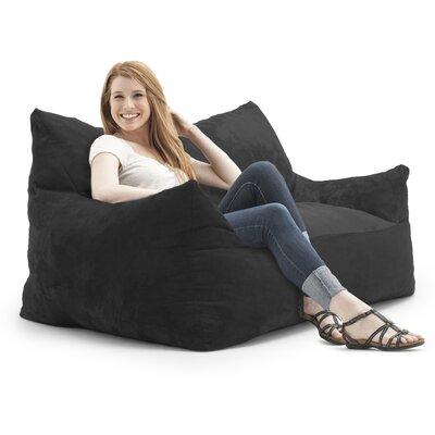 Big Joe Imperial Bean Bag Sofa Upholstery: Black