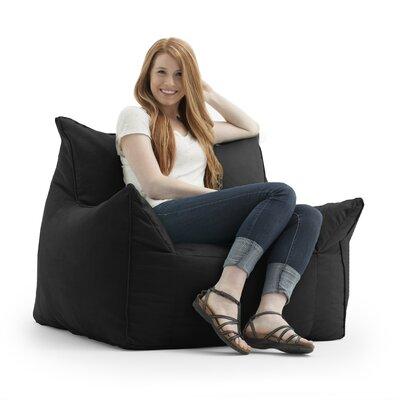 Big Joe Imperial Bean Bag Lounger Upholstery: Black