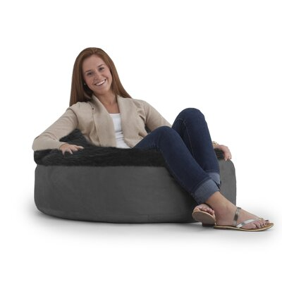 Big Joe Bean Bag Chair Upholstery: Charcoal/Black