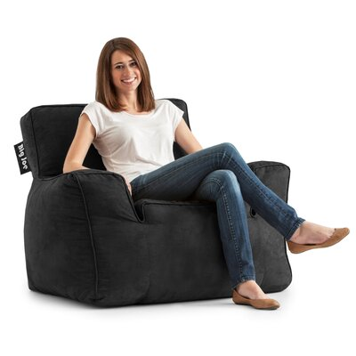 Big Joe Suite Bean Bag Lounger Upholstery: Black