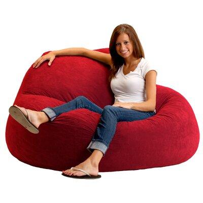 Fuf Bean Bag Sofa Upholstery: Sierra Red