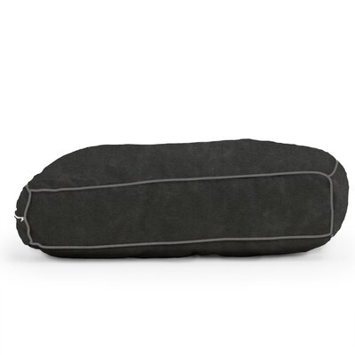 Big Joe Wuf Fuf Microsuede Dog Bed Color: Black Onyx, Size: X-Large (42 L x 28 W)