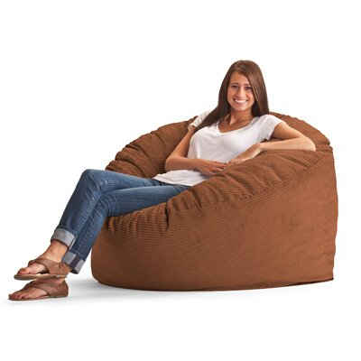 Fuf Bean Bag Chair Upholstery: Wide-Wale Corduroy Spice