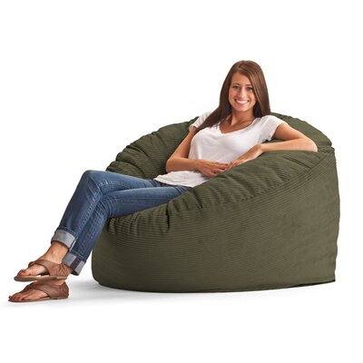 Fuf Bean Bag Chair Upholstery: Wide-Wale Corduroy Pewter