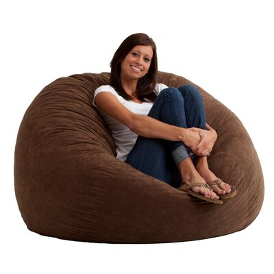 Fuf Bean Bag Chair Upholstery: Comfort Suede Espresso