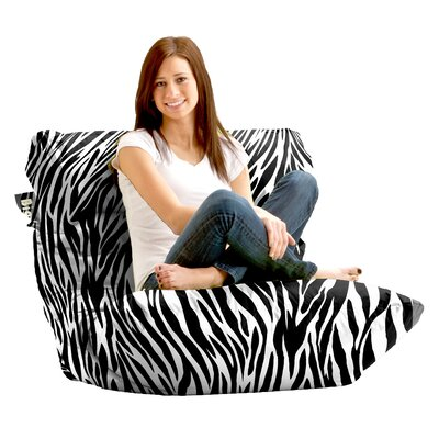 Big Joe Bean Bag Lounger Color: Black/White