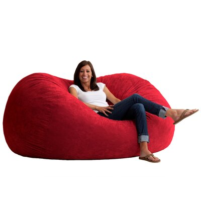Fuf Bean Bag Chair Upholstery: Comfort Suede Sierra Red