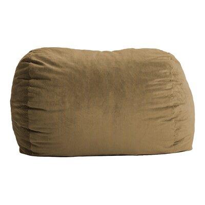 Fuf Bean Bag Sofa Upholstery: Wide-Wale Corduroy Coffee