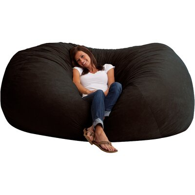 Fuf Bean Bag Sofa Upholstery: Comfort Suede Black Onyx