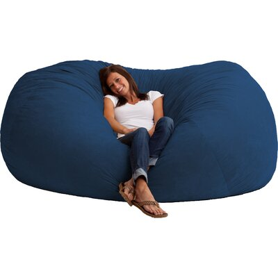 Fuf Bean Bag Sofa Upholstery: Comfort Suede Blue Sky