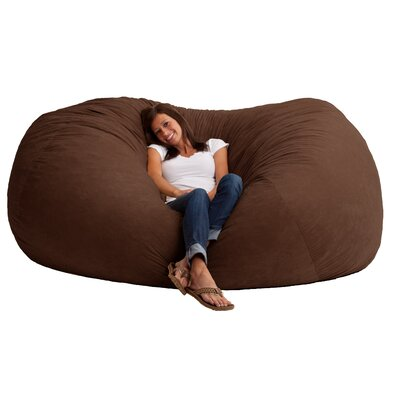 Fuf Bean Bag Sofa Upholstery: Comfort Suede Espresso