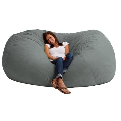Fuf Bean Bag Sofa Upholstery: Comfort Suede Steel Grey