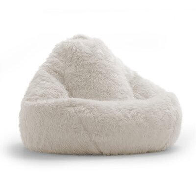 Big Joe Bean Bag Chair Upholstery: Ivory