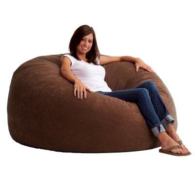 Fuf 4.5 Feet Media Foam Filled Chair Upholstery: Comfort Suede Espresso