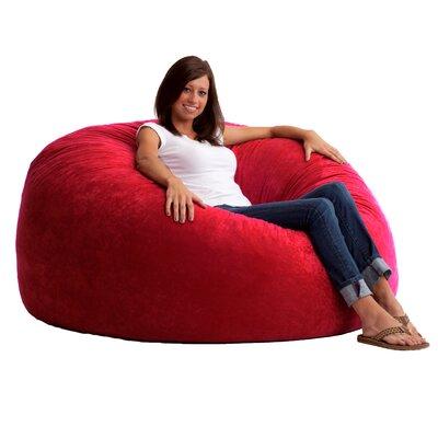 Fuf Bean Bag Chair Upholstery: Comfort Suede Sierra Red