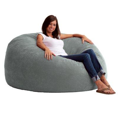 Fuf 4.5 Feet Media Foam Filled Chair Upholstery: Comfort Suede Steel Grey