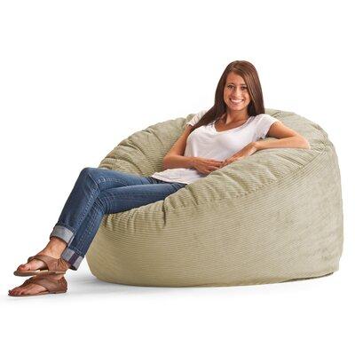 Fuf 4.5 Feet Media Foam Filled Chair Upholstery: Wide-Wale Corduroy Beach