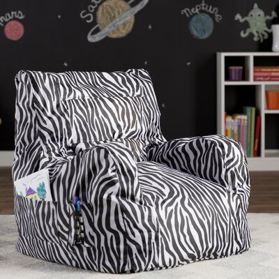 Bean Bag Lounger Color: Zebra