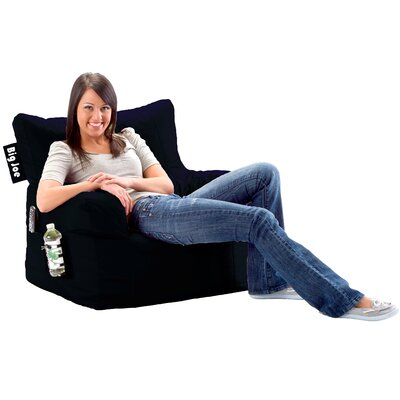 Bean Bag Lounger Color: Stretch Limo Black