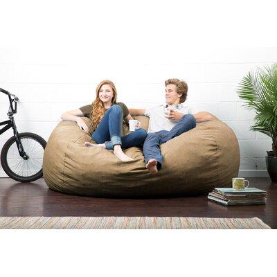 Big Joe Lux Bean Bag Sofa Upholstery: Pecan