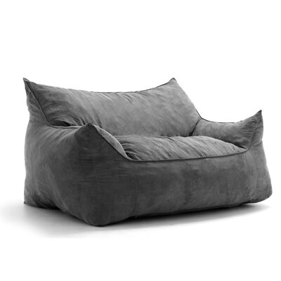 Big Joe Imperial Bean Bag Sofa Upholstery: Cement