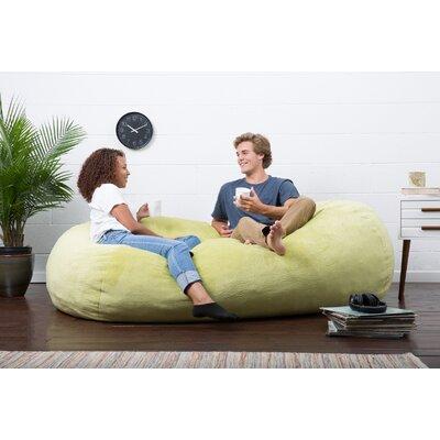 Big Joe Lux Bean Bag Sofa Upholstery: Kelly Green