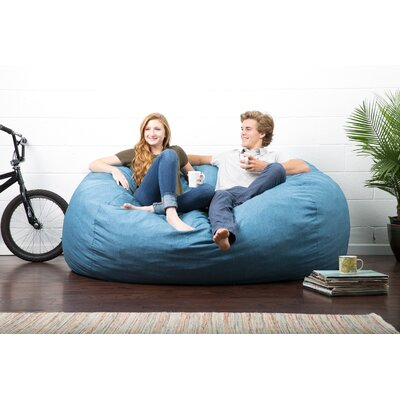 Big Joe Lux Bean Bag Sofa Upholstery: Pacific