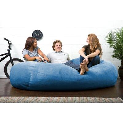 Big Joe Lux Bean Bag Sofa Upholstery: Cobalt