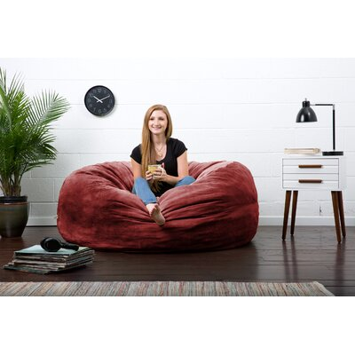 Big Joe Lux Bean Bag Chair Upholstery: Merlot