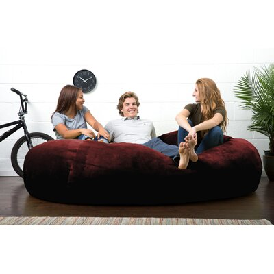 Big Joe Lux Bean Bag Sofa Upholstery: Merlot