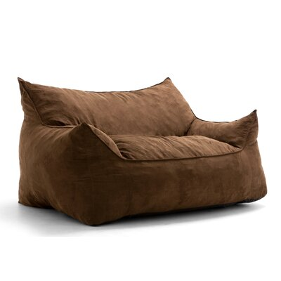 Big Joe Imperial Bean Bag Sofa Upholstery: Chocolate