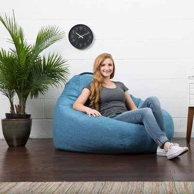 Big Joe Lux Bean Bag Chair Upholstery: Pacific