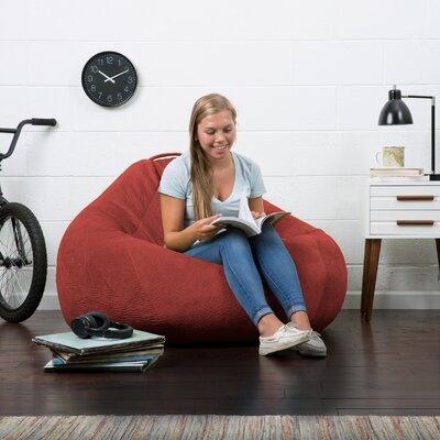 Big Joe Lux Bean Bag Chair Upholstery: Merlot