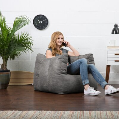 Big Joe Lux Bean Bag Chair Upholstery: Cement