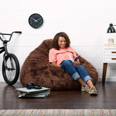 Big Joe Bean Bag Chair Upholstery: Brown