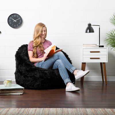 Big Joe Milano Bean Bag Lounger Upholstery: Black