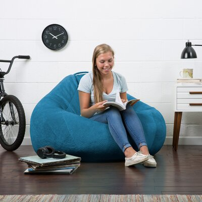 Big Joe Lux Bean Bag Chair Upholstery: Cobalt