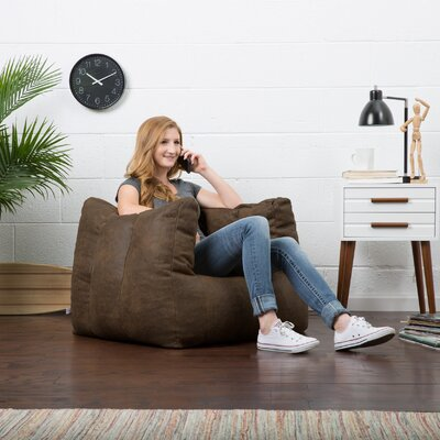 Big Joe Lux Bean Bag Chair Upholstery: Espresso