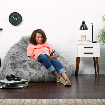 Big Joe Bean Bag Chair Upholstery: Grey