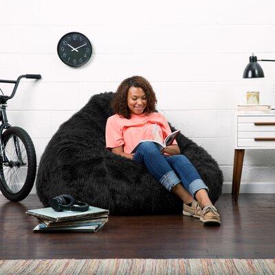 Big Joe Bean Bag Chair Upholstery: Black