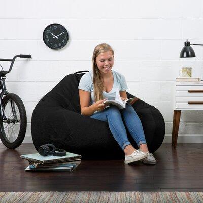 Big Joe Lux Bean Bag Chair Upholstery: Black